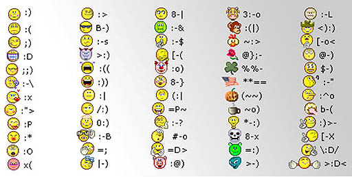 Smiley-Face Text Symbols