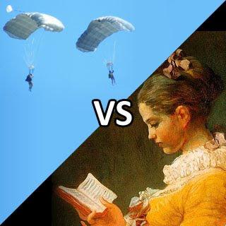 Paraquedistas vs Leitores