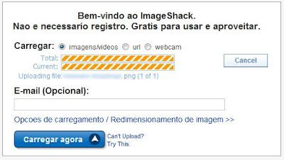 Fazendo o Upload para o ImageShack