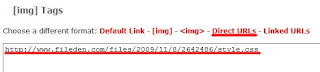 URL do CSS