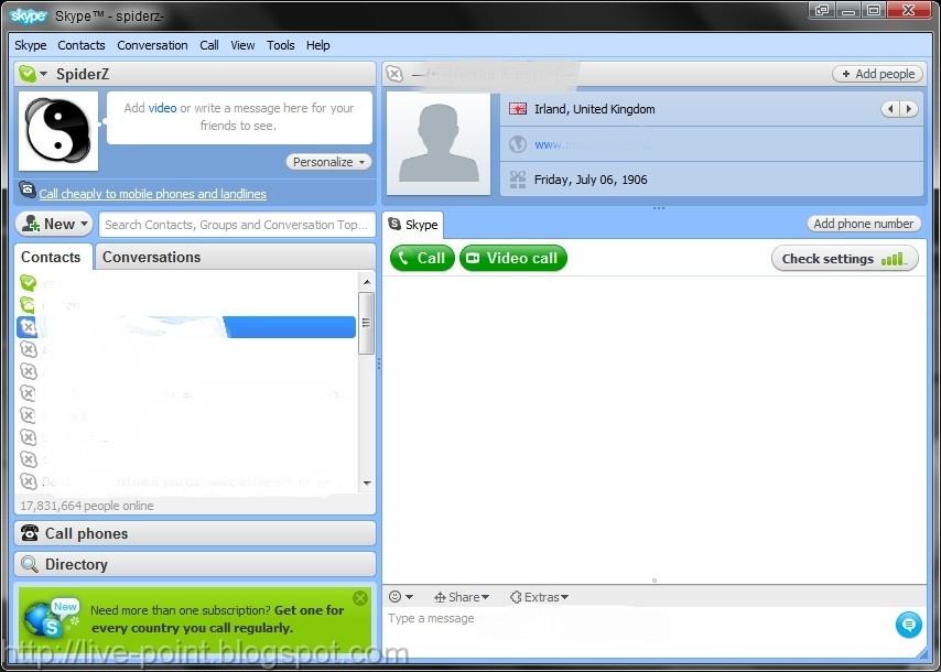 Skype 4.2.0.169 - Start calling for free all over the world