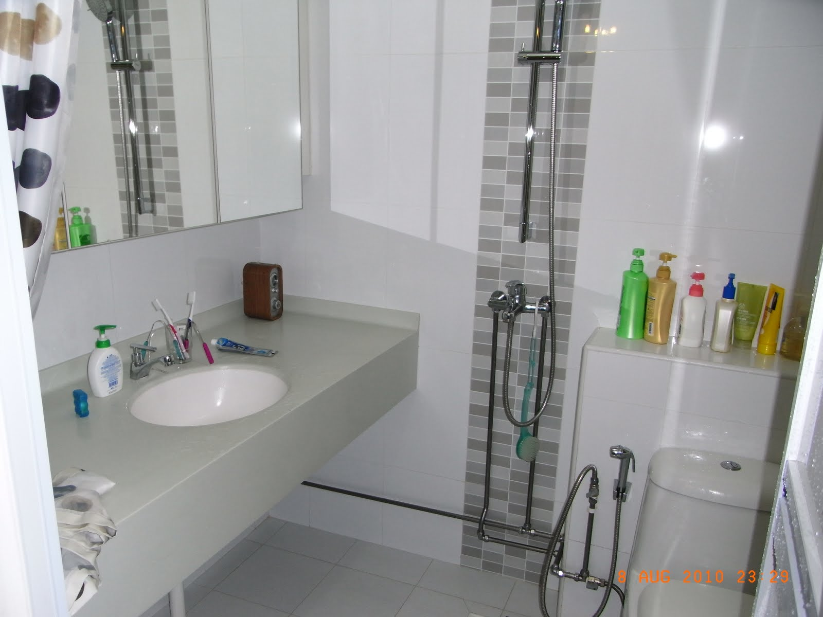 Our hdb flat renovation in 2009 improved toilet layout for Small bathroom ideas hdb