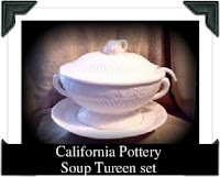 California Pottery Soup Tureen Set - click for full size view