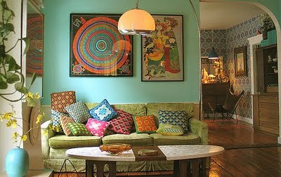 romantic boho interior