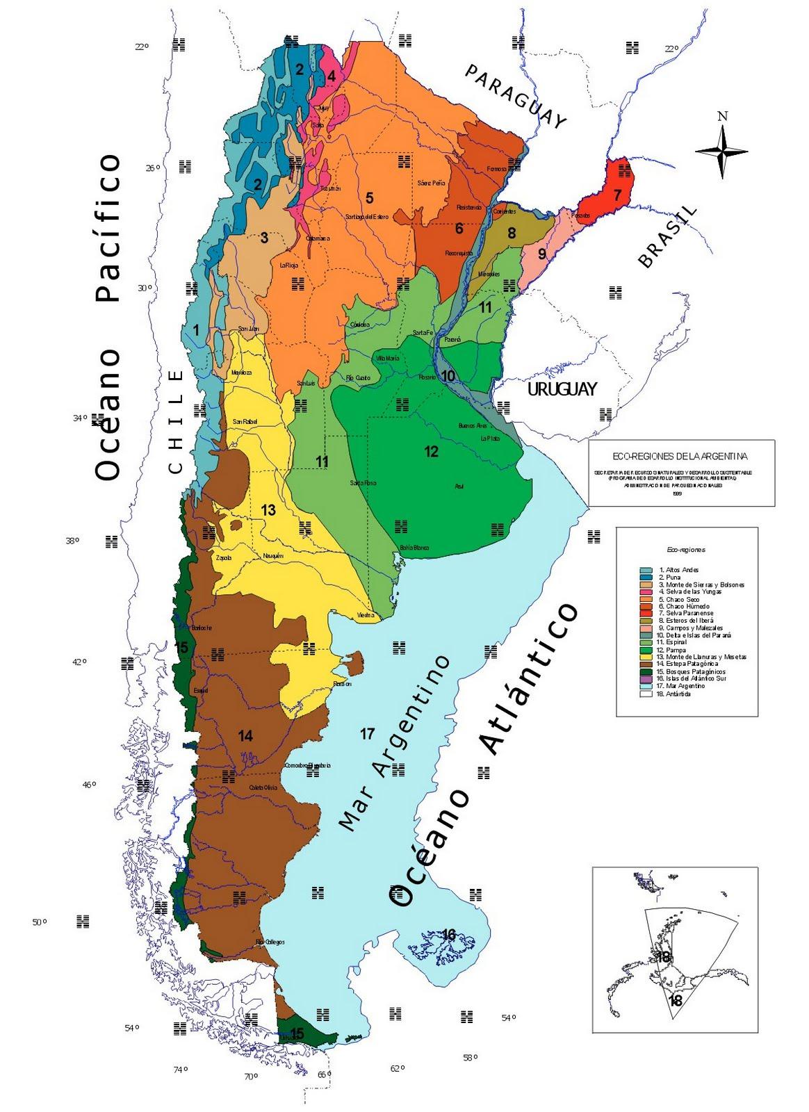 MAPA ECOREGIONES DE ARGENTINA