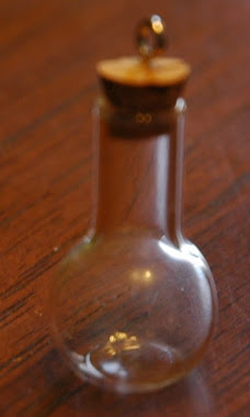 Miniature Glass Potion Bottle/ Vase $3.99