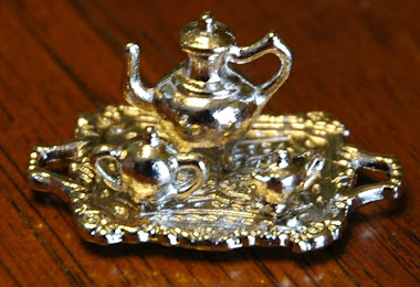 Metal Tea Set (Tea Tray, Tea Pot, Sugar Bowl, Creamer) $5.99