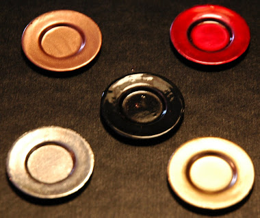 Miniature Charger plates. Available in colors below. $ 7.99 per set (4plts)