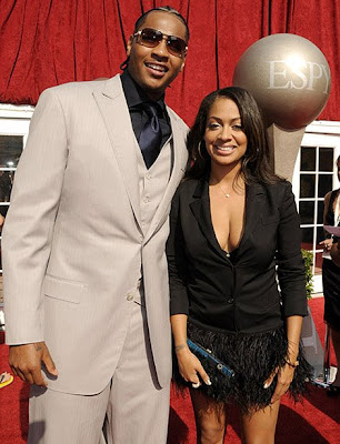 Carmelo Anthony Dressed Up. carmelo anthony lala vasquez.