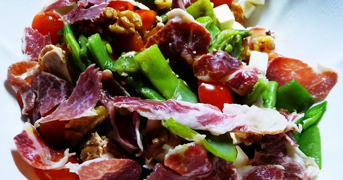 Ensalada templada de judias verdes con un par de guindillas gastronom a viajes salud y - Tiempo coccion judias verdes ...