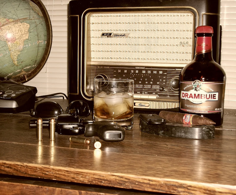 Cigars, Drambuie, Old Time Radio, and GUNS!