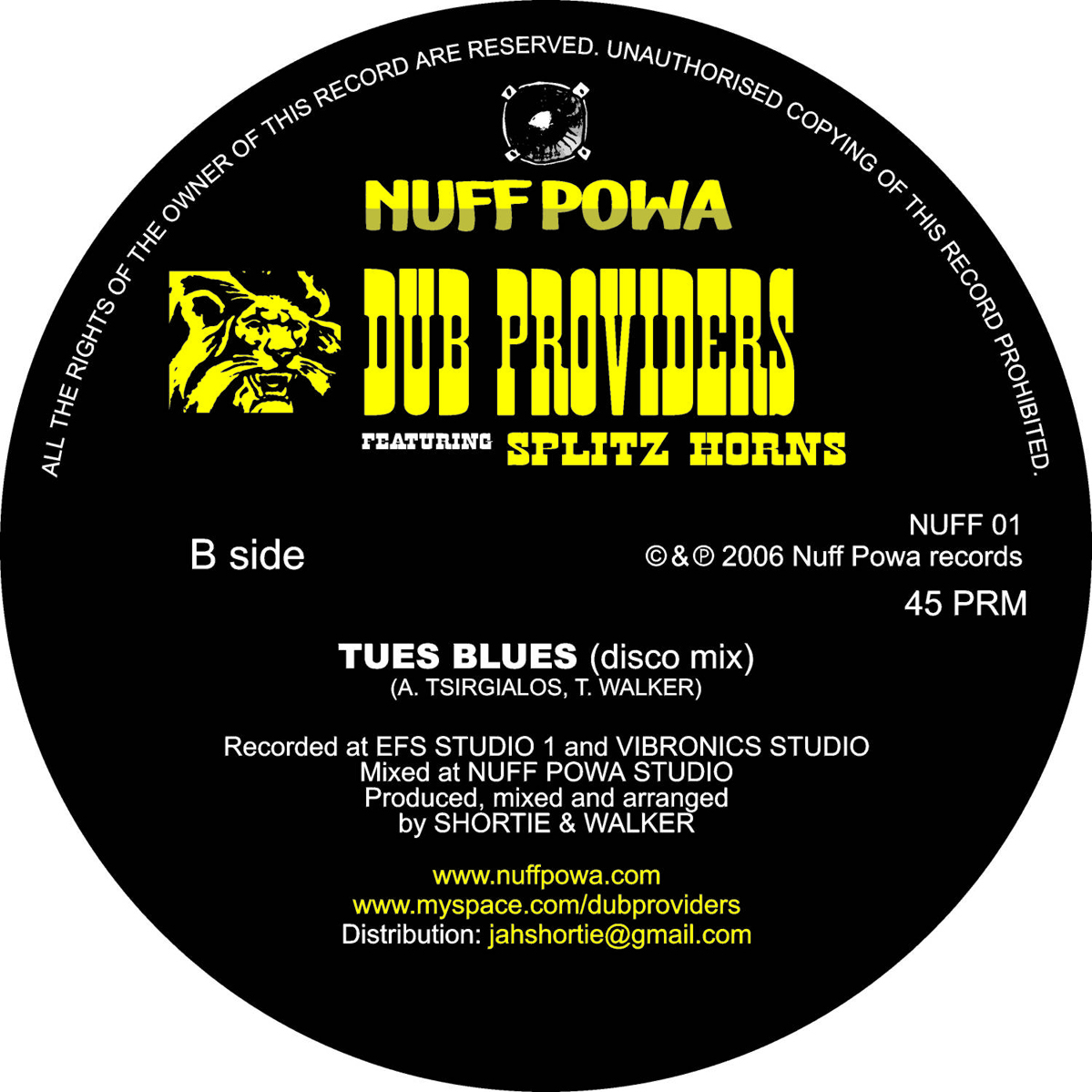 Dub Providers Feat Splitz Horns - Jacob´s Ladder / Tues Blues