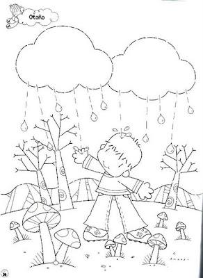 Outono para pintar... para crianças