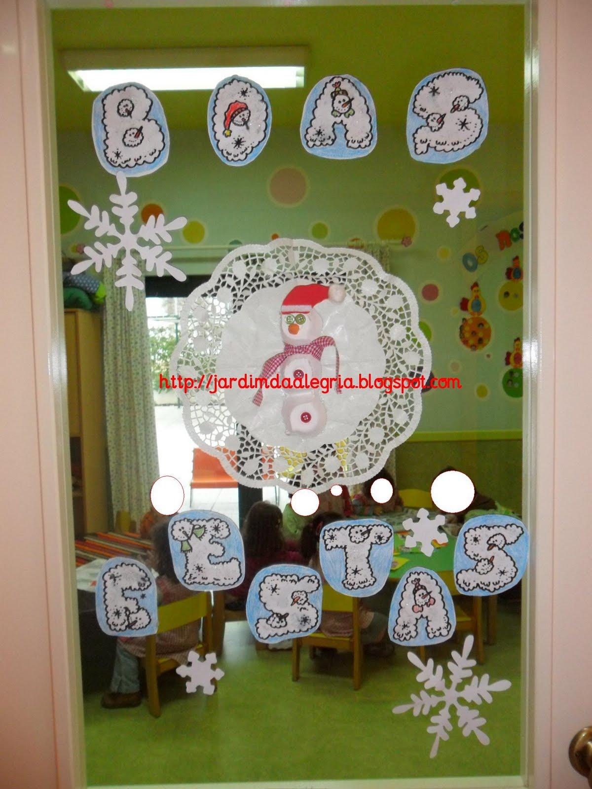 decoracao de sala natal : decoracao de sala natal:Jardim da Alegria: Decoração de Natal : as portas da sala