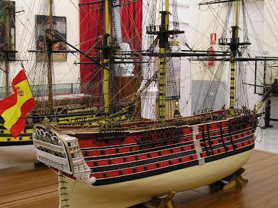 El navio de tres puentes en la Armada 24.+Stma.+Trinidad+1