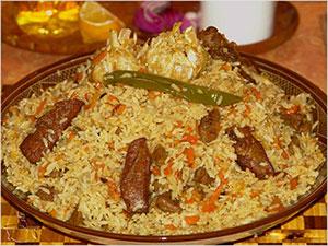 Plov. É um prato que vem da culinária asiática, mas come-se muito na Ucrânia.