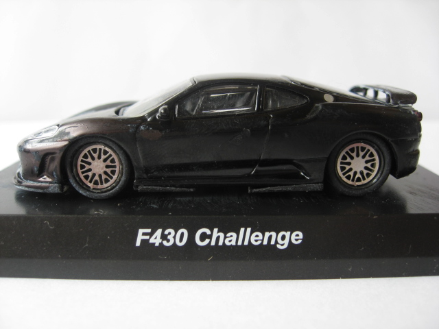 Kyosho 1//64 FERRARI F430 CHALLENGE BLACK diecast car model NEW