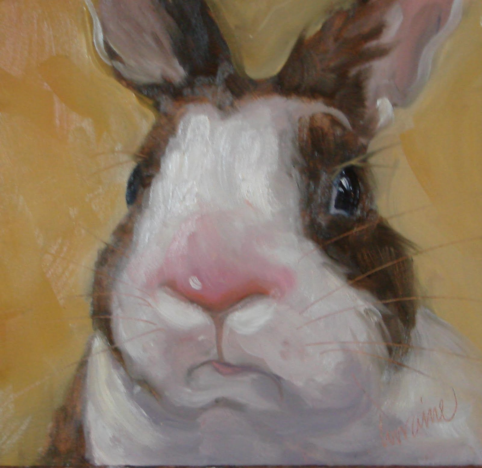 White rabbit painting - photo#20