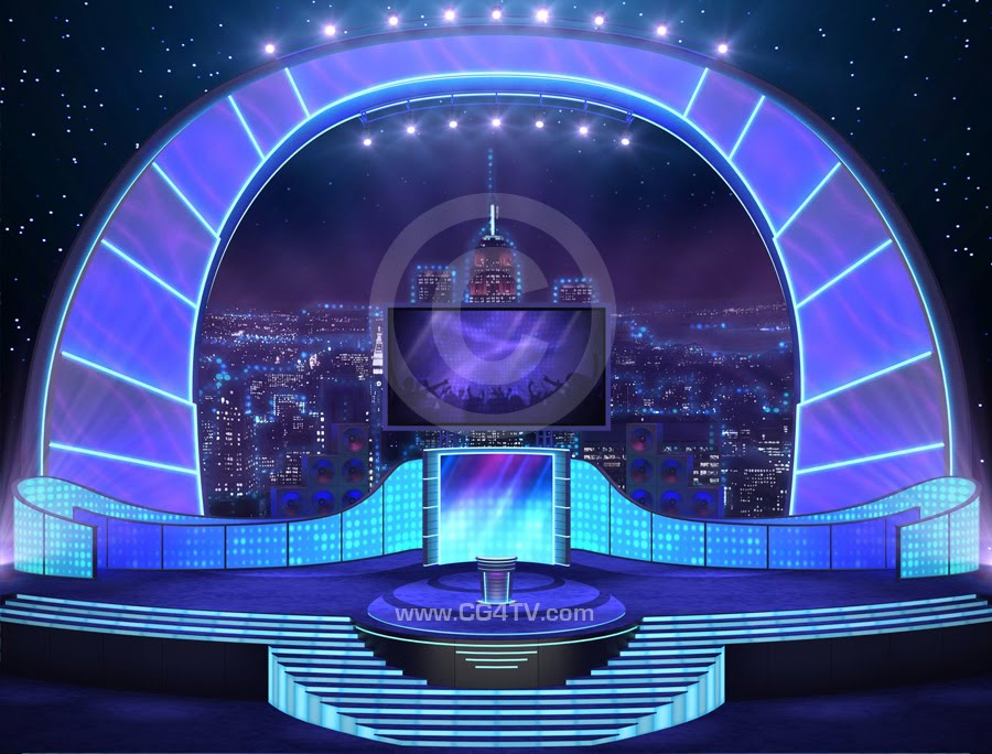 CG4TV News: Virtual Stage Set
