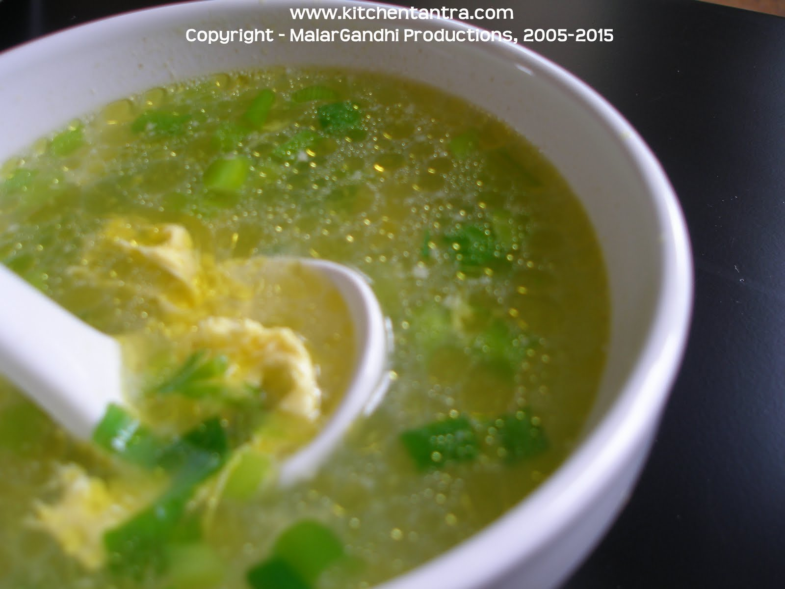 Tantra - tease your palate: Egg Drop Soup / Indo-Chinese Egg Soup