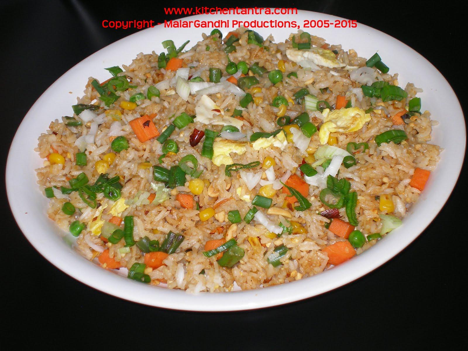 Jasmine Rice n Peanut Sauce Fried rice:(Thai Style)