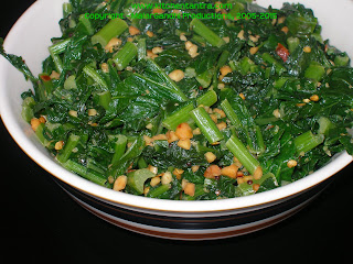 Turnip Greens n Peanuts Stir fry – Going Green:) | Kitchen Tantra