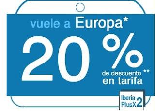 Iberia Plus: 20% de desconto