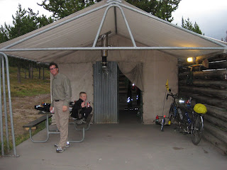 Our Tent Cabin at Colter Bay Village & Williams Family Adventure: Day 35 Rain u0026 8 miles of Road Construction