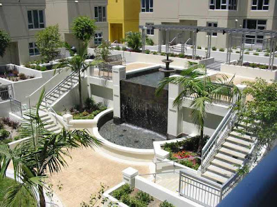 Downtown San Diego Foreclosure Condo Fountain