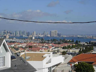 Bay and Downtown view from this Point Loma Foreclosure Property