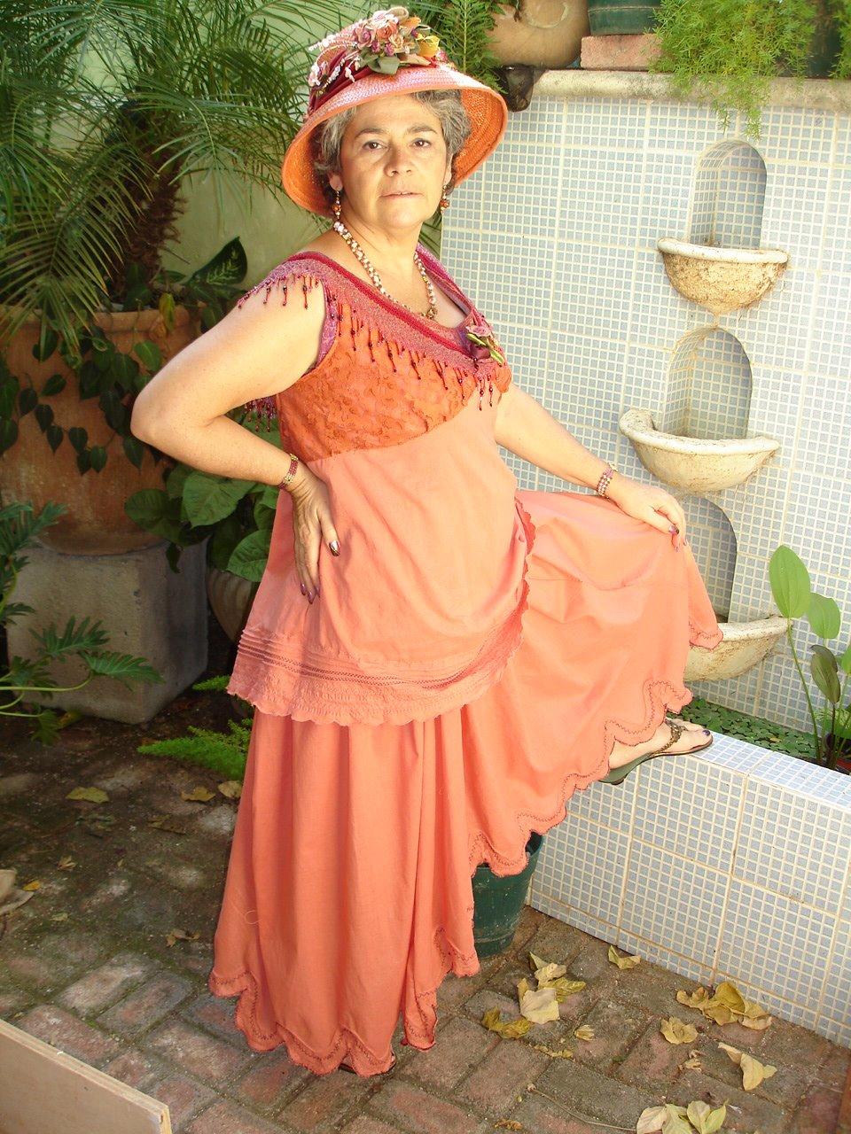 self drafted tea dress-Theresa Diaz Gray