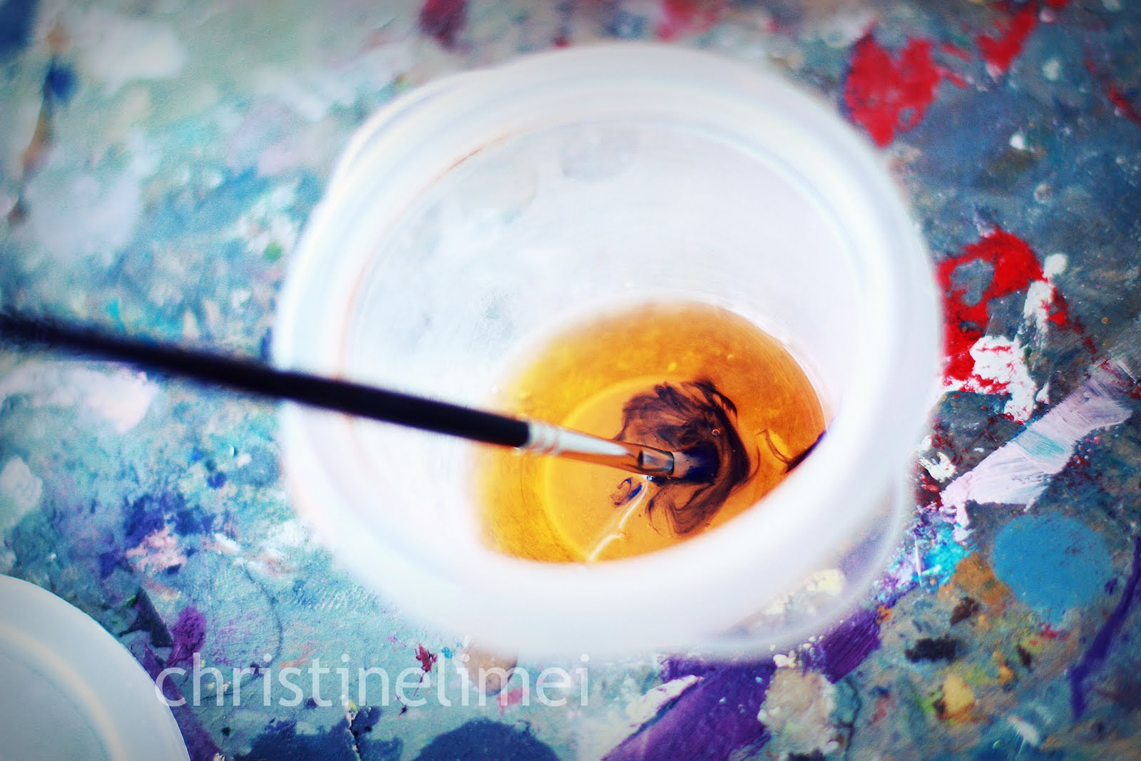 How to clean oil paint brush