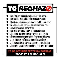 TODO EL PUEBLO POR EL RECHAZO, ASAMBLEA POPULAR 19 DE OCTUBRE, PROTESTA NACIONAL 23 OCTUBRE