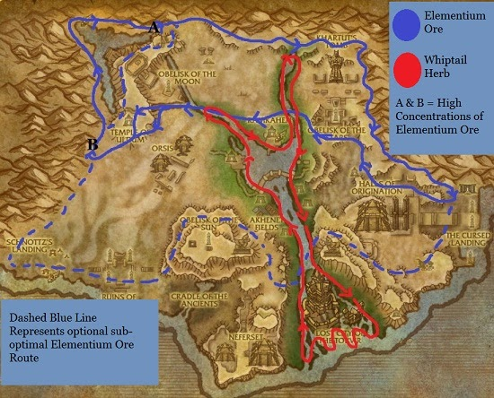 Bronze mining route in deepholm