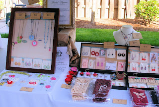 saturday market jewelry vendor booth photo