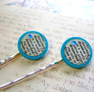 Vintage Dictionary Bobby Hair Pins - Dreamer