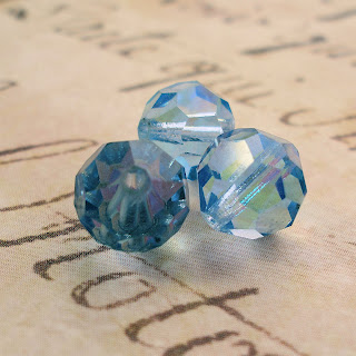 Vintage blue-green crystals