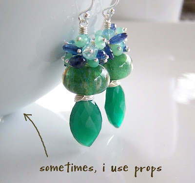 Artisan lampwork earrings from Catie's Blue