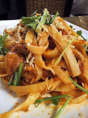 Slow-cooked duck pasta with orange sauce. A sweet-&-sour concoction ...