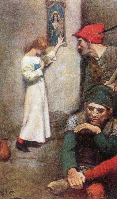St. Joan in Art Pyle_Howard_Joan_of_Arc_in_Prison