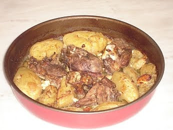 Greek Roast Lamb With Potatoes And Feta Cheese Recipe