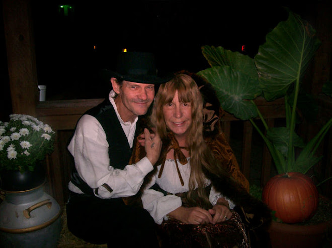 My wife Sherry and I on Main Street, Halloween 2009