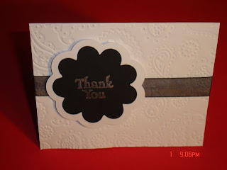 DIY Black and White Wedding: Thank You cards for Bridal Shower gifts