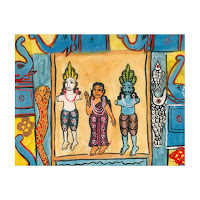 patua scroll painting west bengal