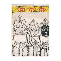 patua jagannath scroll painting west bengal india