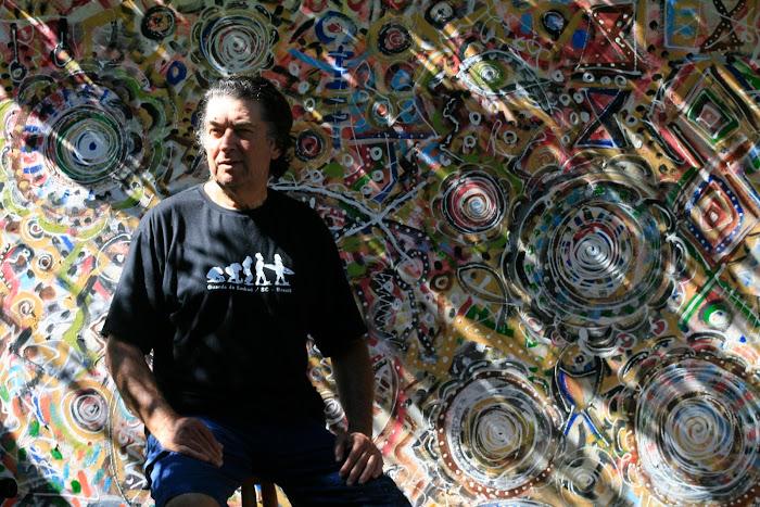 Artista fotografado por Andréia Farias