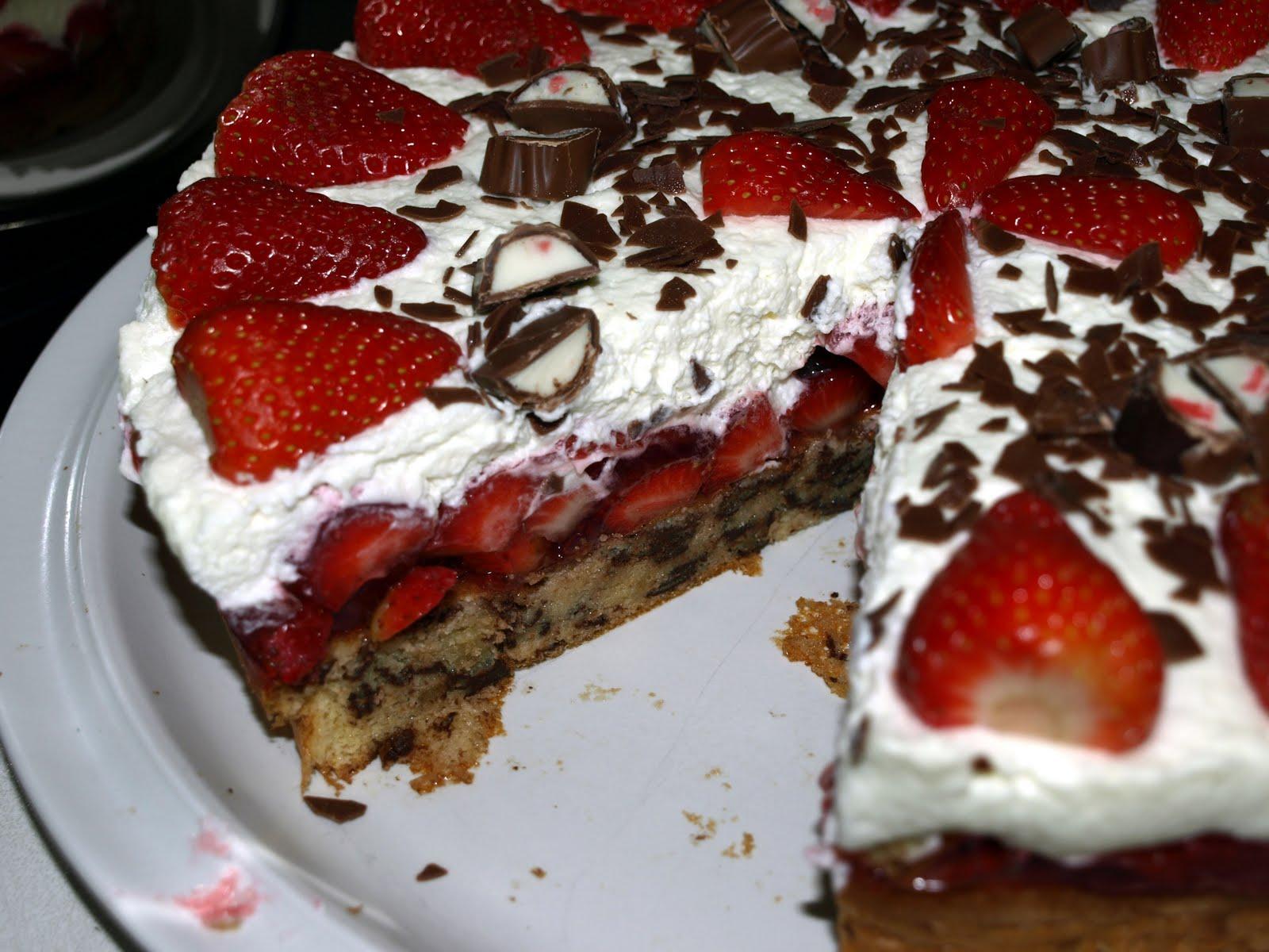 Hauptsache Es Schmeckt Erdbeer Yogurette Torte