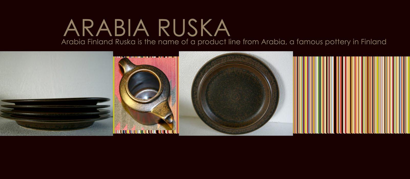 ARABIA RUSKA DISH THE FINLAND´S FLAG & Freak Hänsen-Mid Century Scandinavian Furniture: ARABIA RUSKA DISH ...
