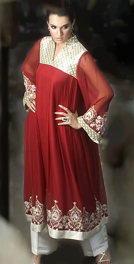 Red Anarkali Dress