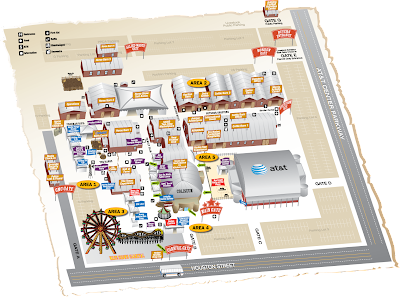 San Antonio Stock Show and Rodeo 2010 Map